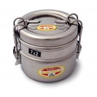 lunchbox stainless steel, 2pcs. collapsible