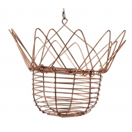 wire basket metallic
