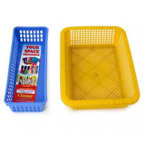 plastic basket angled