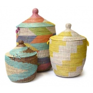 3 pcs. set laundry basket