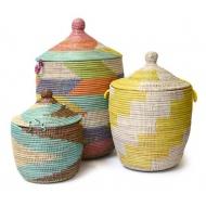 3er Set Wäschekörbe Senegal
