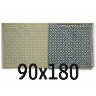Plastic carpet 90x180 cm rolled, rhomb