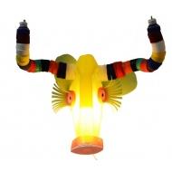 Masken- Lampe aus Plastikmüll