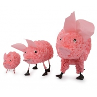 Cochon en sac plastique