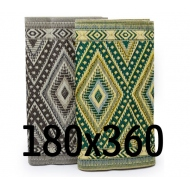 plastic carpet 180x360 folded, rhomb