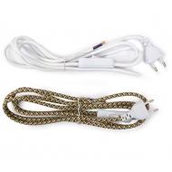 Textil- Kabel mit Schalter